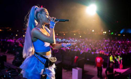 A photo of pop-singer Ariana Grande